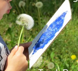 Dandy Dandelion Blow Painting