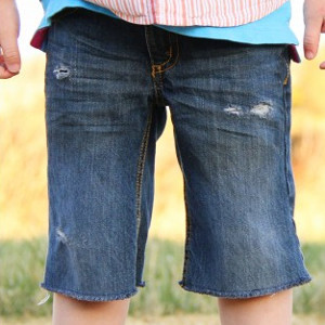 Clean Cut-Off Shorts for Boys