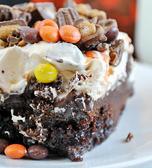 Reese's Cup Poke Cake