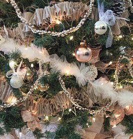 Burlap and Tulle Garlands AllFreeChristmasCrafts