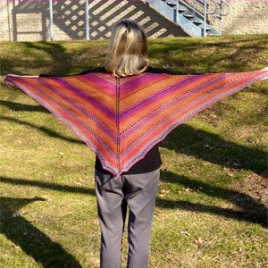 Painted Desert Lace Shawl
