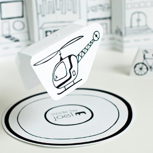 Printable Flying Helicopter