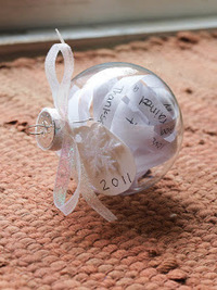 Year of Memories Ball Ornament