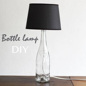 Chic and Shady Bottle Lamp