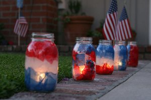 Patriotic Mason Jar Lights