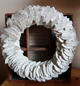 Pretty Book Pages Wreath
