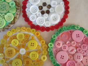 Fresh Fruit Button Coasters