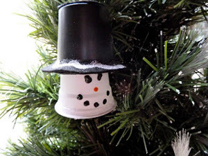 Upcycled Plastic Cup Snowman Ornament
