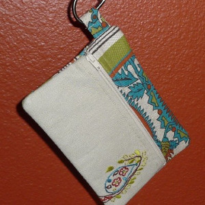 Embroidered Fabric Wristlet