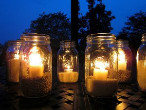 Light the Night Mason Jars