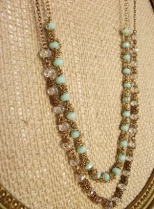 Delicate Chain-Wrapped Bead Necklace