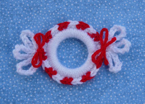 Crochet Peppermint Ornament