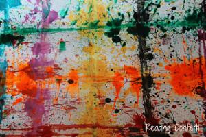 Rubber Band Splatter Painting