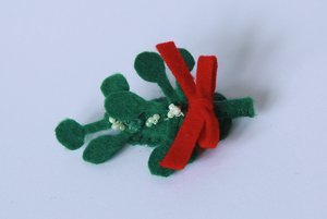 Mistletoe Hairclip for Baby