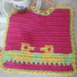 Colorful Crochet Baby Bib FaveCrafts.com