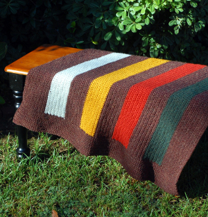 Deciduous Stripes Crochet Afghan
