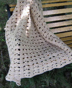 Bohemian Lace Afghan