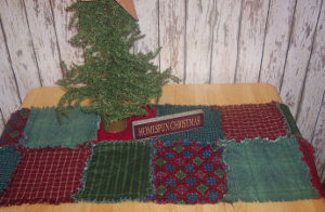 Raggedy Rustic Table Runner
