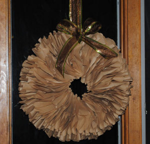 Brown Coffee Filters Wreath
