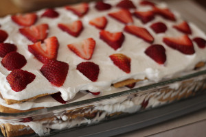 Summer Strawberry Icebox Cake