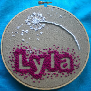 Baby Name Embroidery Pattern