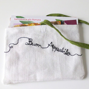Embroidered Recipe Card Holder