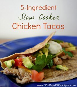Five Ingredient Chicken Tacos