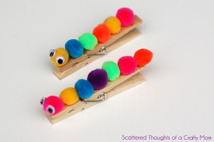 Caterpillar Clothespins