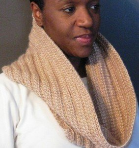 Tunisian Ribbed Cowl