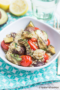 Light Grilled Quinoa Salad with Avocado