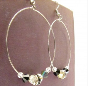 Classic Beaded Hoop Earrings