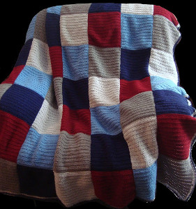 Patriotic Color Block Afghan