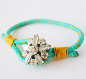 Glam Button Cord Bracelet