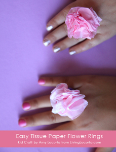 Tissue Paper Flower Rings