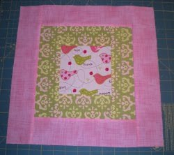 Feminine Pink And Green Quilt Block Favequilts Com