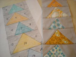 Make a Flying Geese Paper Pieced Pattern