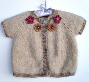 Simple Top Down Baby Cardi