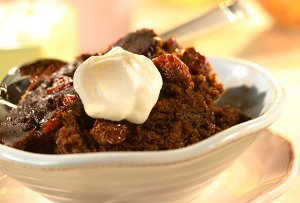 Slow Cooker Gingerbread Cake with Dried Cherries