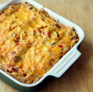 Make-Ahead Chicken Spaghetti Casserole