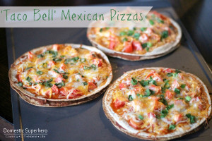 Taco Bell Inspired Mexican Pizzas