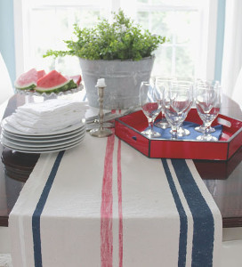 Spirited Striped Table Runner