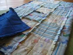 Frayed Seams Baby Quilt