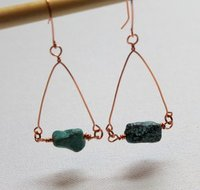 Wire-Wrapped Triangle Earrings