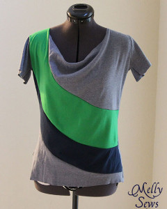 Draped Color Block Tee