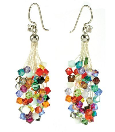 """Confetti"" Cascade WireLace Earrings & Tassels Kit"