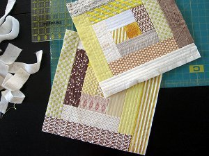 Quilt As You Go Log Cabin Block