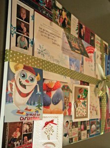 Recycled Christmas Card Decor