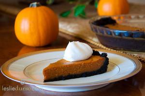 Pumpkin Pie with Chocolate Crust