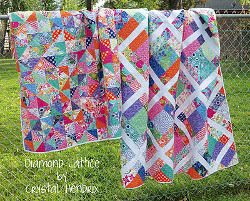 Springtime Diamond Lattice and Diamond Extra Quilts
