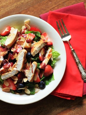Wendy's Copycat Berry Almond Chicken Salad